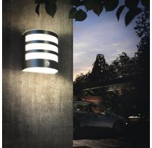 Applique LED pour mur extérieur avec détecteur de mouvement 1x3,5W acier inoxydable/blanc-thumb-3