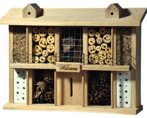 Hôtel à insectes Landsitz Superior chêne 47 x 12,5 x 34 cm-0