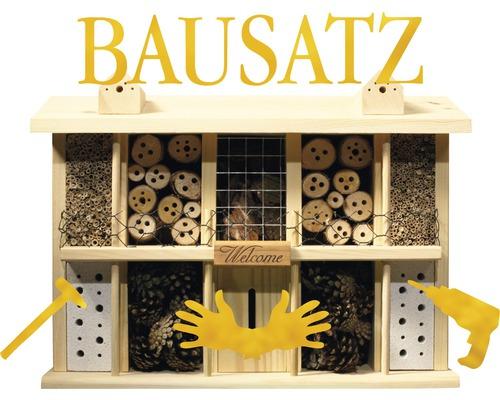 Construction modulaire pour hôtel à insectes Landsitz Superior chêne 47 x 12,5 x 34 cm
