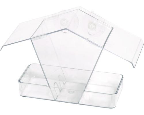 Abri-mangeoire pour oiseaux en plastique stable 24x9,6x15cm