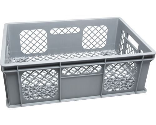 Corbeille empilable 45 L 600x200x400 mm grise