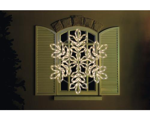 Silhouette flocon de neige 234 LEDs, blanc chaud