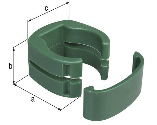 Fix-Clip pro, Ø 3,4 cm 3 Stück, grün