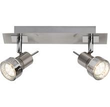 Spot de plafond LED 2x2,5W 2x240 lm 3000 K blanc chaud l 305 mm Kassandra fer/chrome/mat-thumb-2