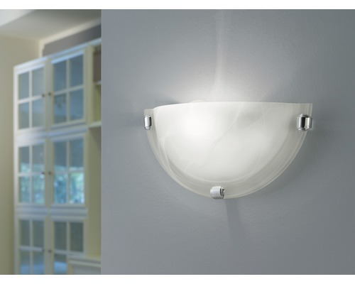 Éclairage mural Salome 1 ampoule blanc 30 cm