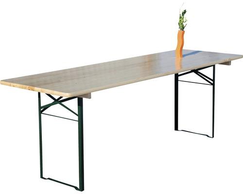 Table pliante 220x50x75cm épicéa naturel