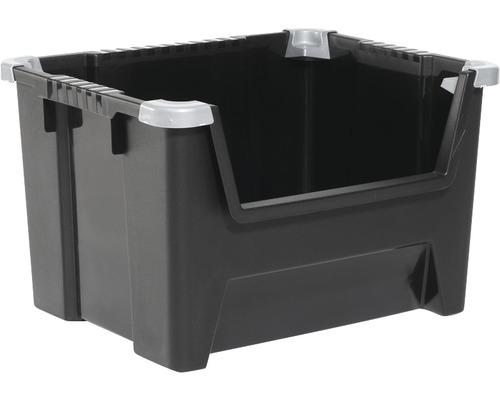 Boîte de rangement, noir 45l