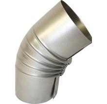 Conduit de poêle coudé 45° Ø 80 mm sans trappe aluminié à chaud-thumb-0