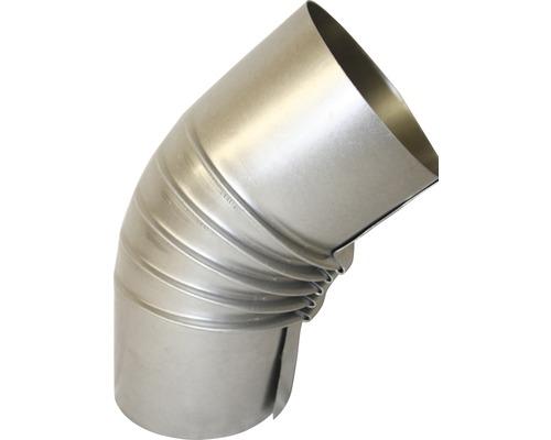 Conduit de poêle coudé 45° Ø 80 mm sans trappe aluminié à chaud-0