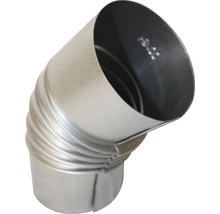 Conduit de poêle coudé 45° Ø 80 mm sans trappe aluminié à chaud-thumb-1