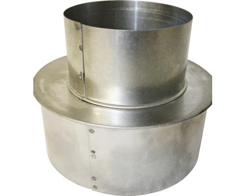 Réducteur pour conduit de poêle Ø 120-80 mm aluminié à chaud