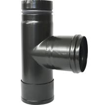 Té tampon de poêle à pellets Ø 80 mm noir mat-thumb-0