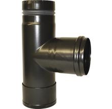 Té tampon de poêle à pellets Ø 80 mm noir mat-thumb-1