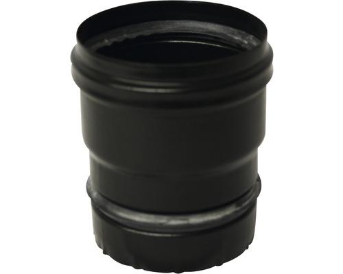 Raccord de poêle à pellets avec joint Ø 80 mm noir mat