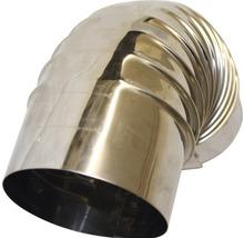 Conduit de poêle coudé 90° Ø 130 mm avec trappe inox-thumb-1