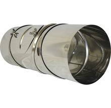 Conduit de poêle coudé 90° Ø 150 mm 4 pièces avec trappe pivotant inox-thumb-2