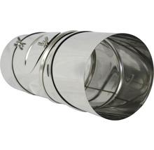 Conduit de poêle coudé 90° Ø 150 mm 4 pièces avec trappe pivotant inox-thumb-1