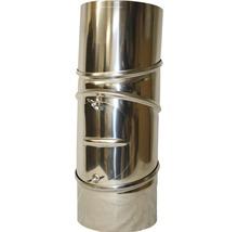 Conduit de poêle coudé 90° Ø 150 mm 4 pièces avec trappe pivotant inox-thumb-0