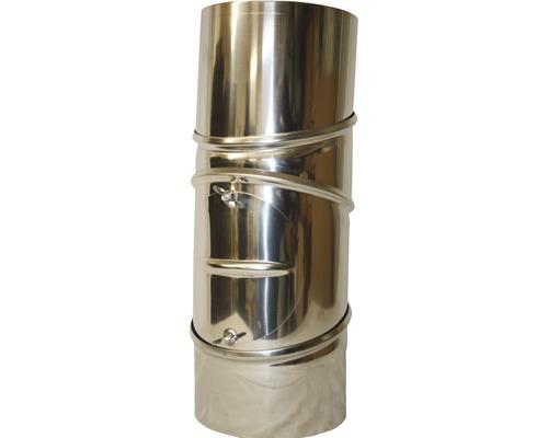 Conduit de poêle coudé 90° Ø 150 mm 4 pièces avec trappe pivotant inox-0