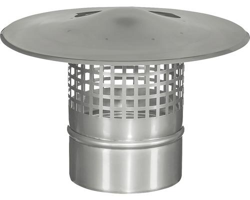 Chapeau de cheminée avec grille de protection anti-oiseaux et anti-étincelles Ø 113 pour système d''évacuation de gaz brûlés à une paroi