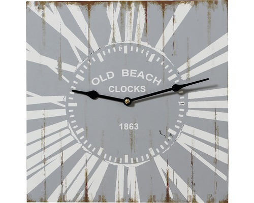 Horloge murale bois Old Beach 34x34cm
