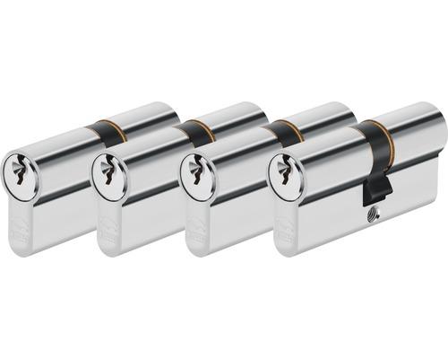 Set de cylindres profilés Abus, 4 x 30/30 mm, à fermeture identique