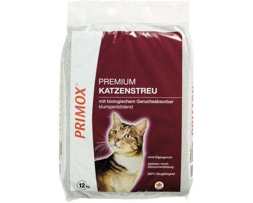 Litière pour chats PRIMOX Premium avec absorbant d''odeurs 12 kg