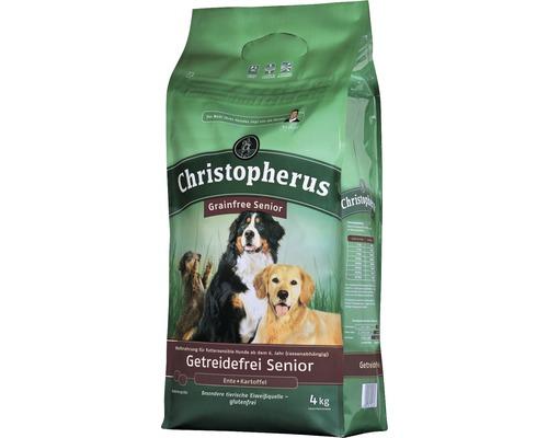 Nourriture sèche pour chiens, Allco Christopherus sans céréales Senior canard & pomme de terre 4kg-0