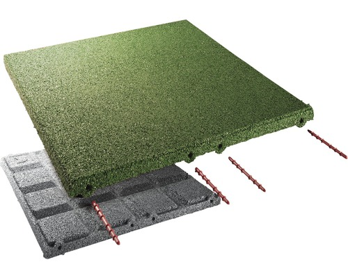 Dalle de protection anti-chute terralastic 50x50x3cm vert-0