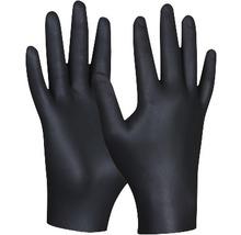 Gants de protection jetables Black Nitril taille M, paquet de 80-thumb-0