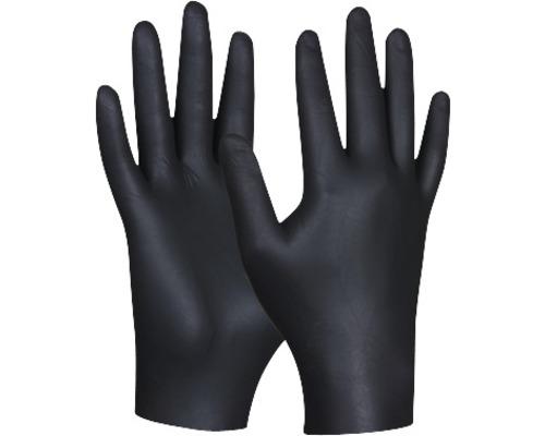 Gants de protection jetables Black Nitril taille M, paquet de 80