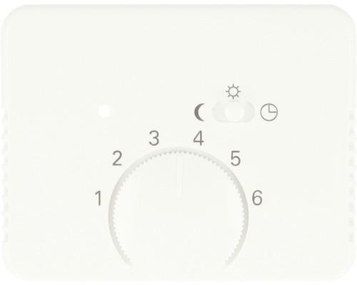 Cache pour thermostat d''ambiance Busch-Jaeger Alpha Nea blanc studio brillant 1795-24G-0