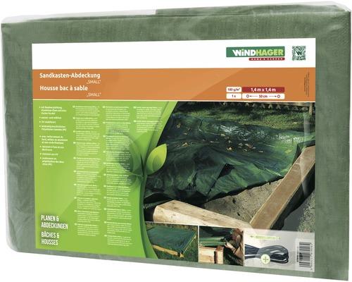 Housse de protection Windhager pour bac à sable Small 140x140cm, vert