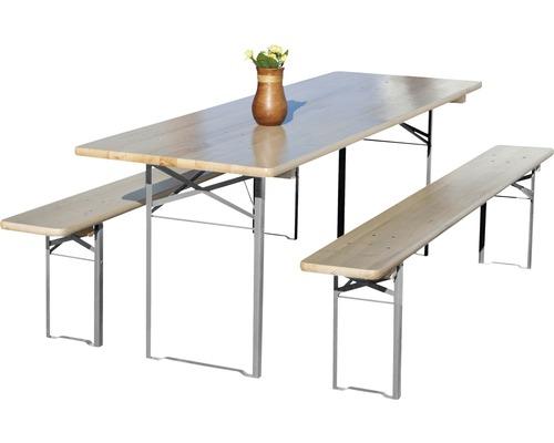 Garniture de brasserie Premium largeur 70cm épicéa 3 pièces naturel