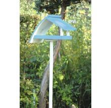 Abri-mangeoire pour oiseaux New Wave avec pied 39x18x23cm blanc-bleu-thumb-1