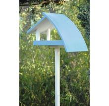 Abri-mangeoire pour oiseaux New Wave avec pied 39x18x23cm blanc-bleu-thumb-2