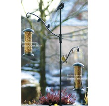 Support pour abri-mangeoire pour oiseaux en métal-thumb-1