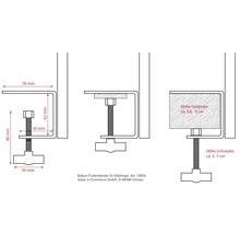Support pour abri-mangeoire pour oiseaux en métal-thumb-2