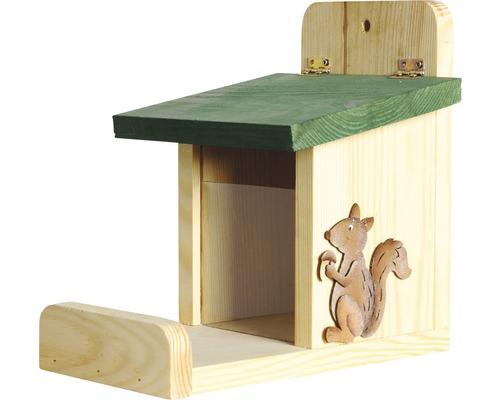 Station d''alimentation pour écureuils 16x23x22cm imprégnée par immersion