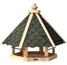 Abri-mangeoire pour oiseaux avec bardeaux bitumés verts 51x45x41 cm-thumb-0