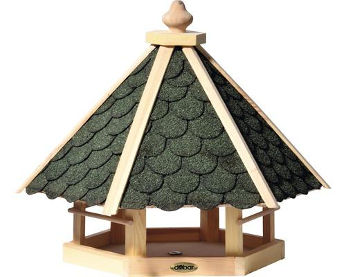 Abri-mangeoire pour oiseaux avec bardeaux bitumés verts 51x45x41 cm-0