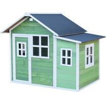 Cabane de jeux EXIT Loft 150 en bois verte-thumb-0