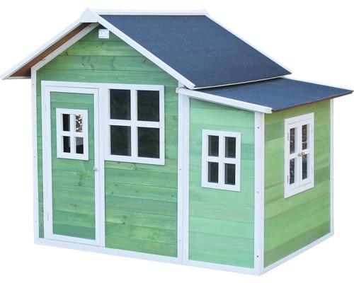 Cabane de jeux EXIT Loft 150 en bois verte-0