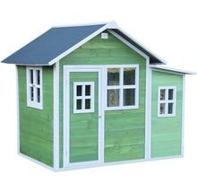 Cabane de jeux EXIT Loft 150 en bois verte-thumb-1