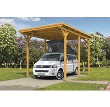 Carport pour un véhicule Skanholz Emsland 404 x 604 cm, chêne clair-thumb-9