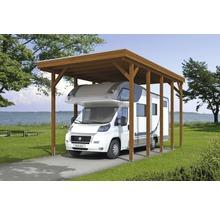 Carport pour un véhicule Skanholz Friesland 397 x 708 cm, noyer-thumb-7