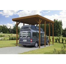 Carport pour un véhicule Skanholz Friesland 397 x 555 cm, noyer-thumb-5