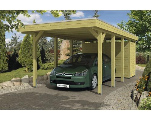 Carport pour un véhicule Skanholz Friesland 314 x 708 cm, imprégné par immersion-0