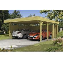 Carport pour deux véhicules Skanholz Friesland 557 x 555 cm, imprégné par immersion-thumb-0