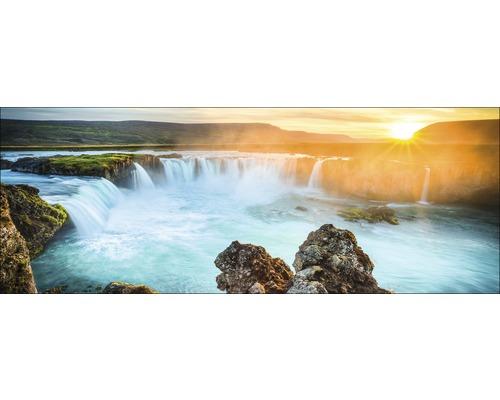 Tableau en verre Colourful Waterfall 30x80 cm
